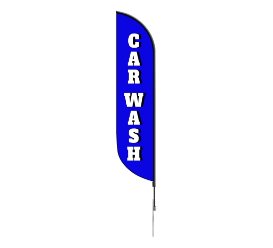 Pre-Printed Car Wash Feather Flag