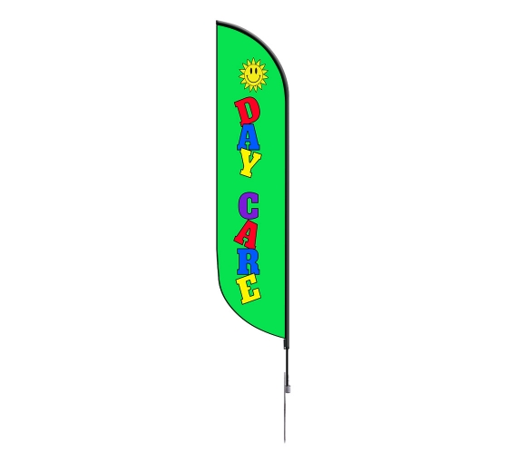 Pre-Printed Daycare Feather Flag