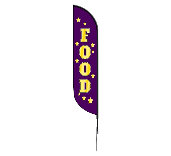 Pre-Printed Food Feather Flag