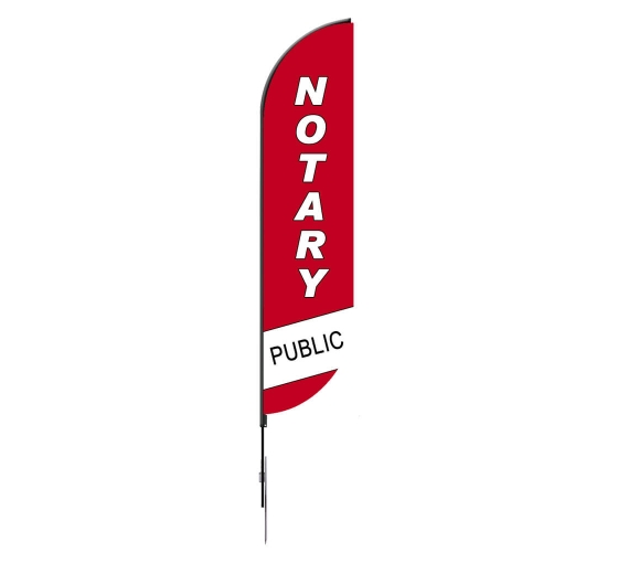 Pre-Printed Notary Public Feather Flag