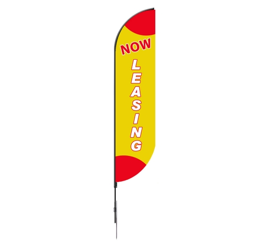 Pre-Printed Now Leasing Feather Flag