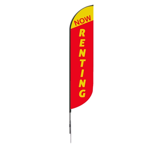 Pre-Printed Now Renting Feather Flag