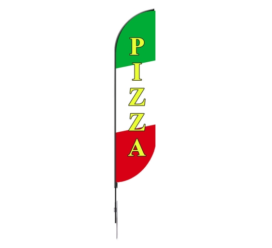 Pre-Printed Pizza Feather Flag