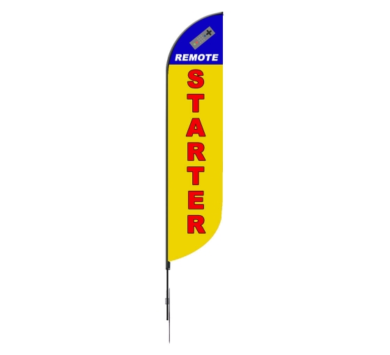 Pre-Printed Remote Starter Feather Flag