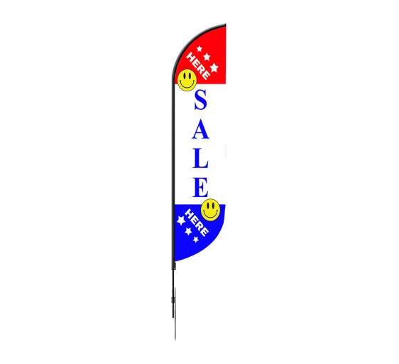 Pre-Printed Sale Feather Flag - White