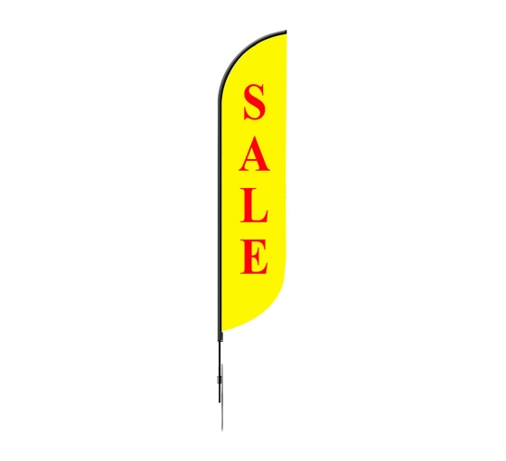 Pre-Printed Sale Feather Flag - Yellow