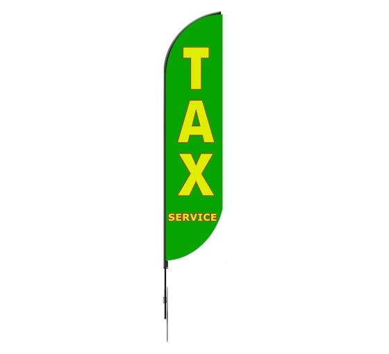 Pre-Printed Tax Service Feather Flag