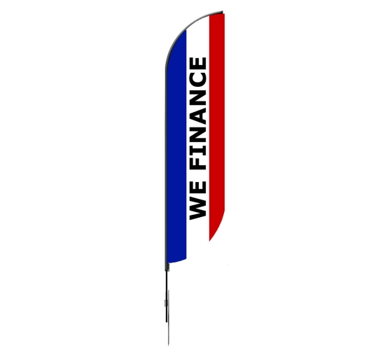 Pre-Printed We Finance Feather Flag