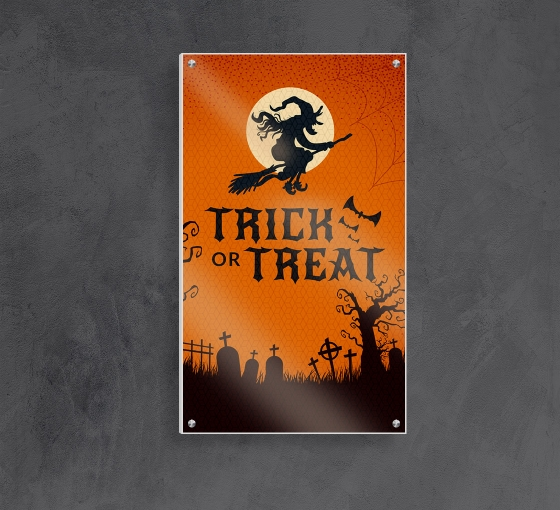Halloween HIP Reflective PVC Foam Board Signs