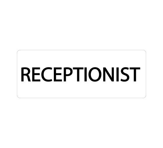 Receptionist Sign