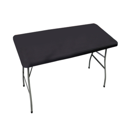 4' Rectangle Table Toppers - Black