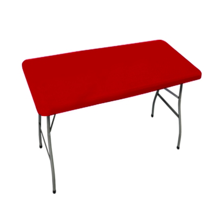 4' Rectangle Table Toppers - Red