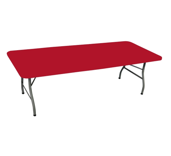 8' Rectangle Table Toppers - Red