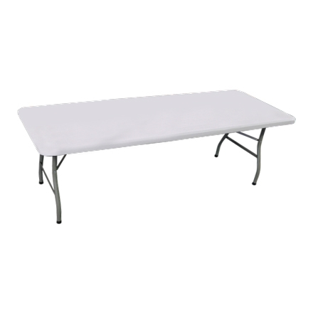 8' Rectangle Table Toppers - White