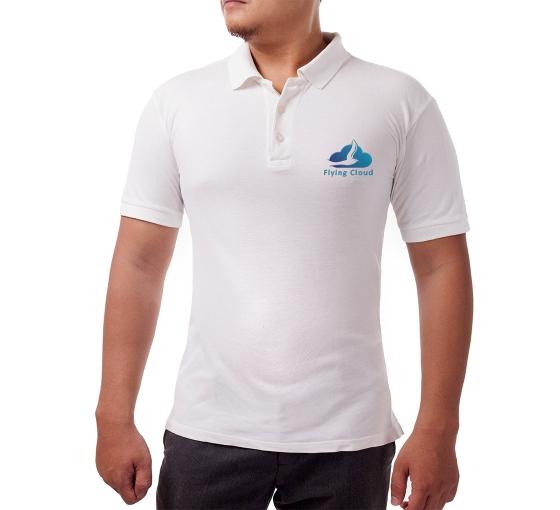Custom White Polo Shirt - Embroidered