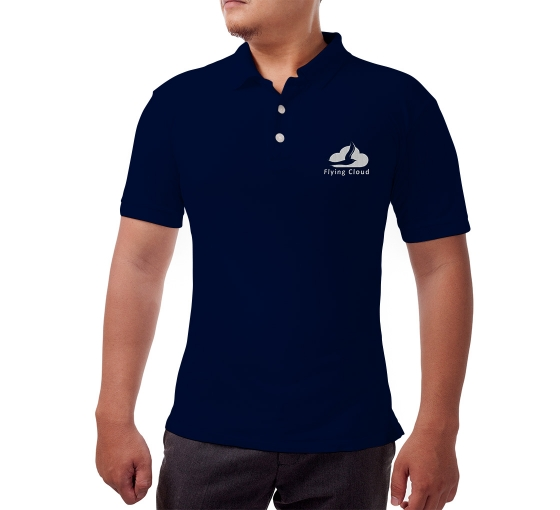 Custom Blue Polo Shirt - Embroidered