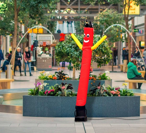 Red with Yellow Arms Inflatable Tube Man