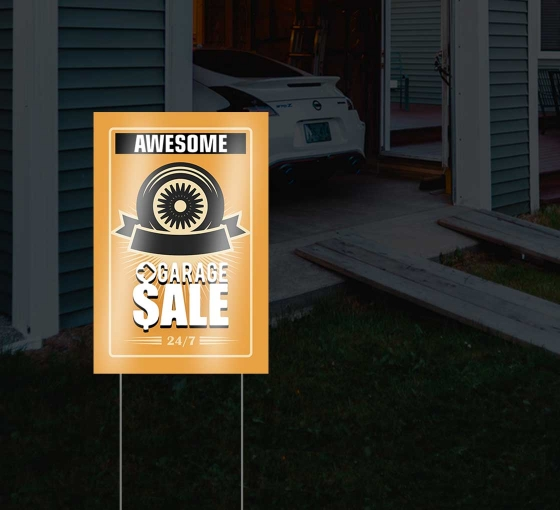 Reflective Garage Sale Signs