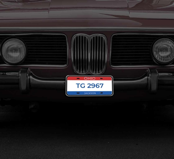 Reflective Ohio License Plates