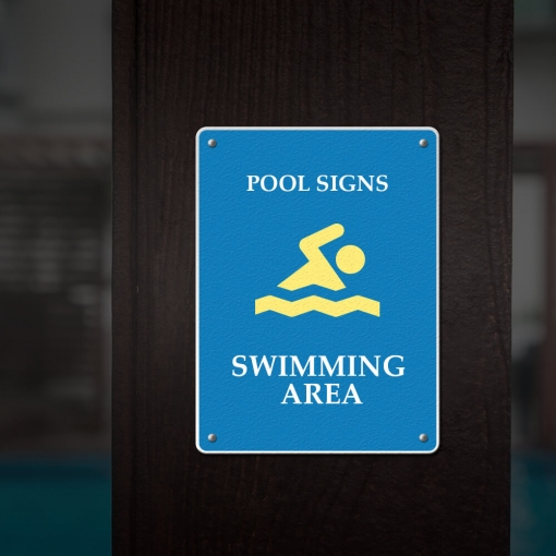 Reflective Pool Signs