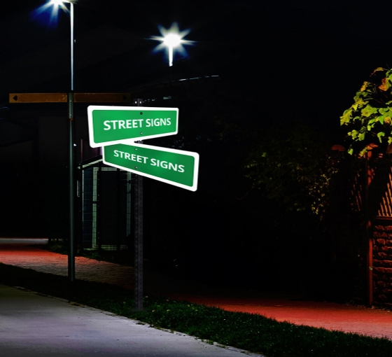 Reflective Street Signs