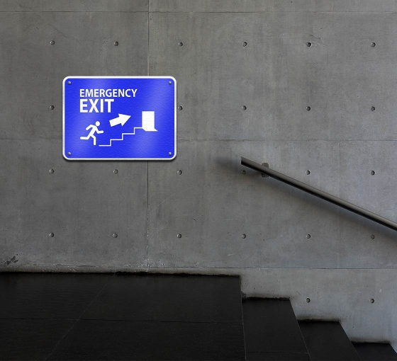 Reflective Exit Compliance Signs