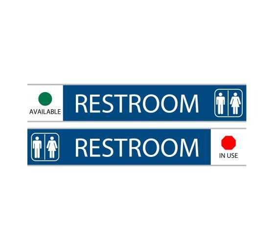 Restroom With Symbol Sign