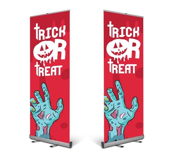 Halloween Roll Up Banner Stands