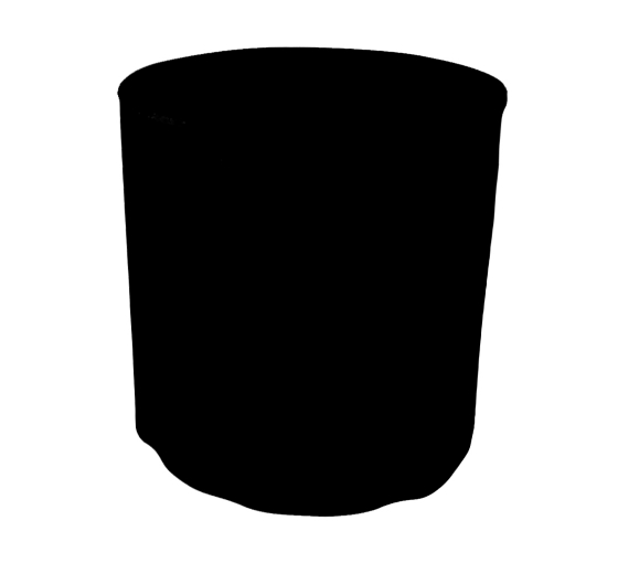 31.5'' Round Fitted Table Covers - Black