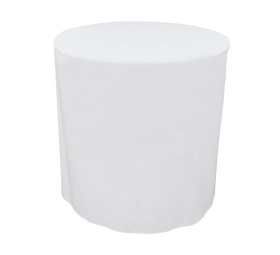 31.5'' Round Fitted Table Covers - White