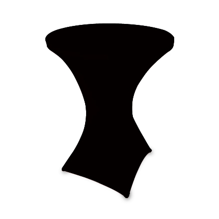 31.5'' Round Stretch Table Covers - Black