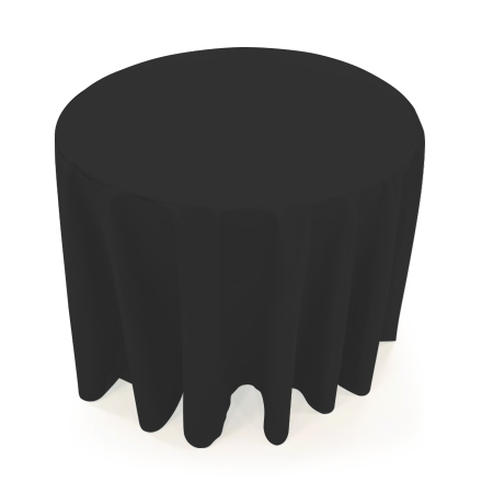 31.5'' Round Table Throws - Black