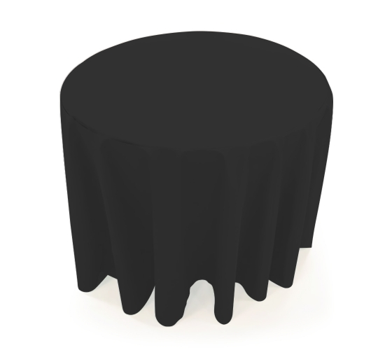 31.5'' Round Table Throws - Black