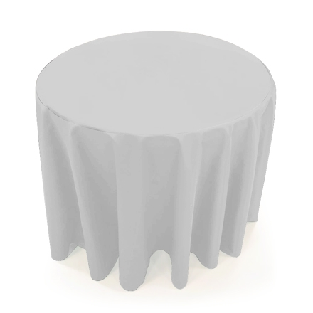 31.5'' Round Table Throws - White