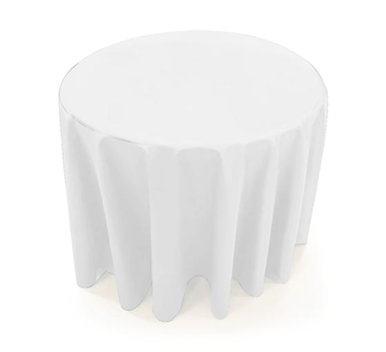 31.5'' Round Table Throws - White