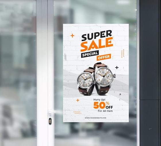 Sales Window Decals Opaque