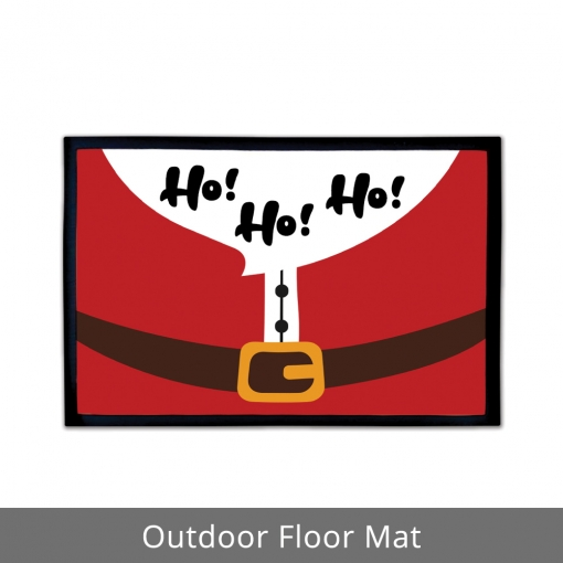 Santa Dress Outdoor Floor Mats