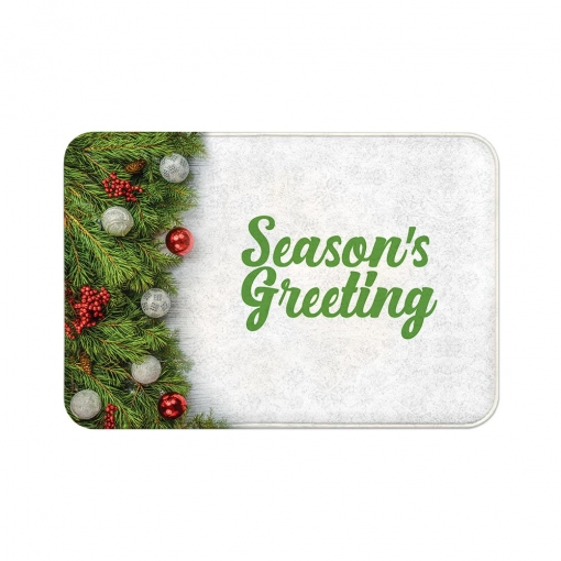 Season's Greeting Floor Mats