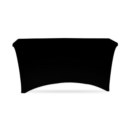 4' Stretch Table Covers - Black - Zipper Back