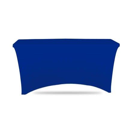 4' Stretch Table Covers - Blue - Zipper Back