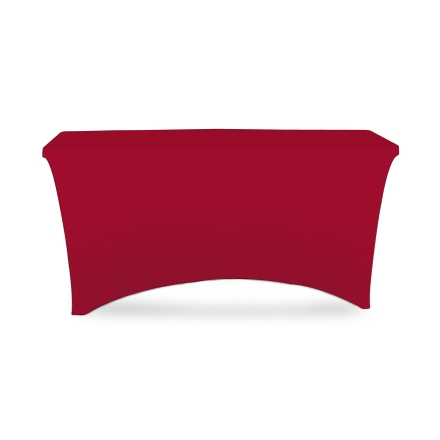 4' Stretch Table Covers - Red - Zipper Back