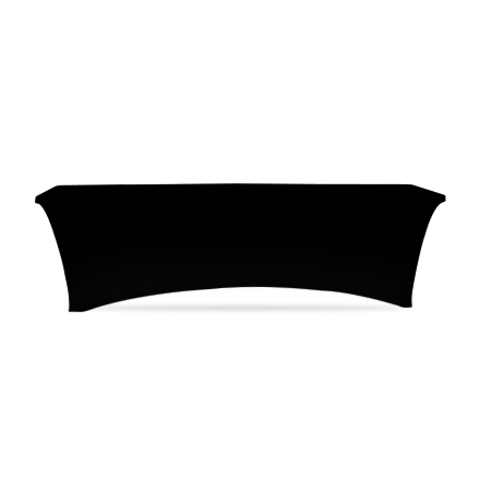 8' Stretch Table Covers - Black - 4 Sided