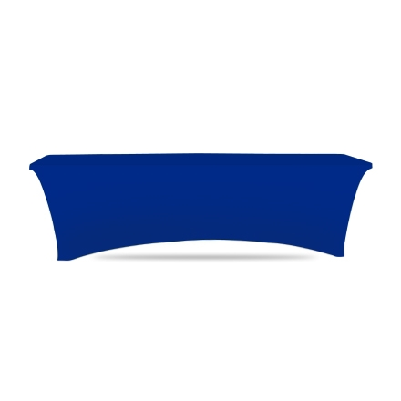 8' Stretch Table Covers - Blue - Zipper Back