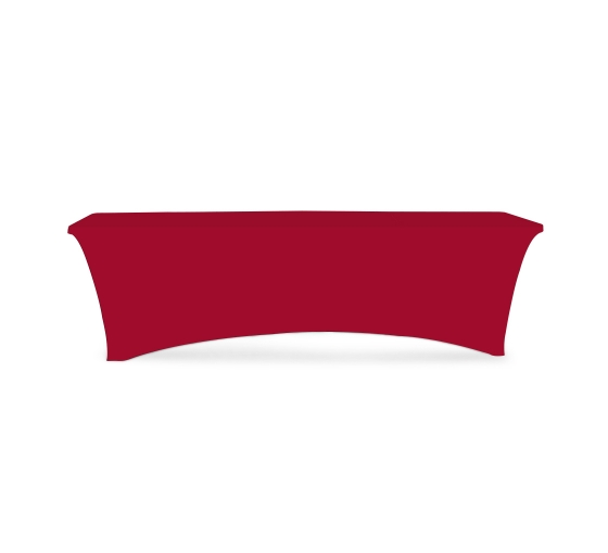 8' Stretch Table Covers - Red - Zipper Back