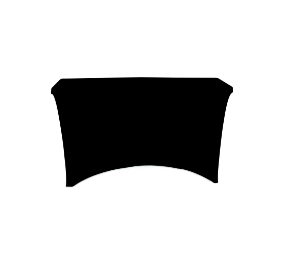 4' Stretch Table Covers - Black - 4 Sided