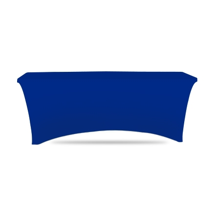 6' Stretch Table Covers - Blue - 4 Sided