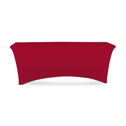 6' Stretch Table Covers - Red