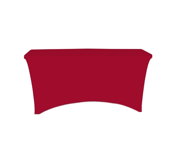 6' Stretch Table Covers - Red - Zipper Back