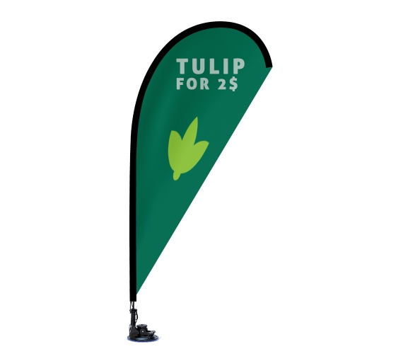 Suction Cup Flags - Teardrop