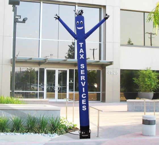 Tax Services Inflatable Tube Man Blue